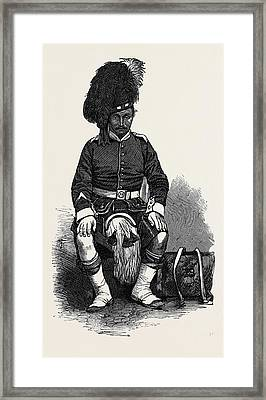 Private Humphrey Wilson Of The 78th Highlanders Framed Print by English School