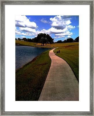 Private Park,fl. Framed Print