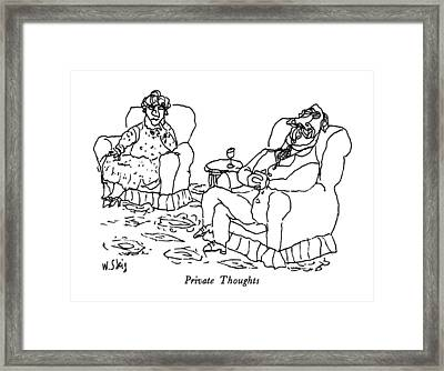 Private Thoughts Framed Print by William Steig