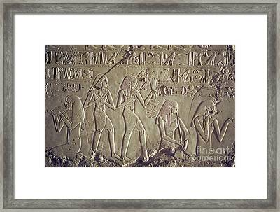 Private Tomb Of Kheruef Kheruf Cheriuf Tt 192 Asasif-stock Image-fine Art Print-valley Of The Kings Framed Print