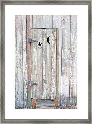 Privy Door Framed Print