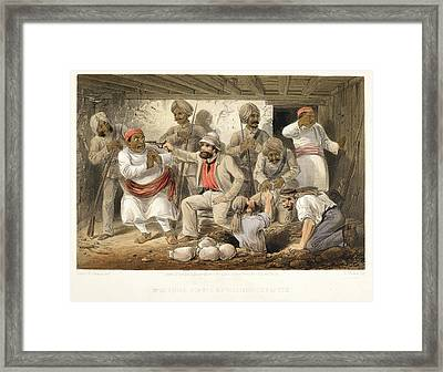 Prize Agents Extracting Treasure Framed Print by British Library