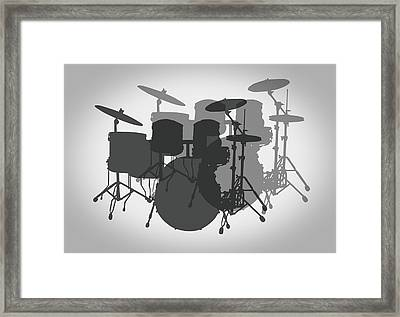Pro Drum Set Framed Print by Daniel Hagerman