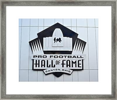 Pro Football Hall Of Fame Framed Print by Frozen in Time Fine Art Photography
