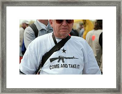 Pro-gun Rally Framed Print by Jim West