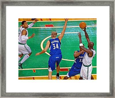 Pro Hoops 042 Framed Print by Jeff Stallard