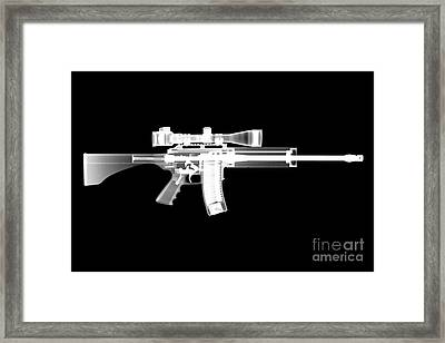 Pro Ordnance Carbon Ar15 Framed Print by Ray Gunz