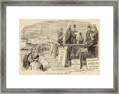 Pro-reform Leaders Address  Political Framed Print by Mary Evans Picture Library