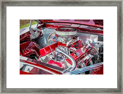 Framed Print featuring the photograph Pro Street Hot Rod Engine  by Trace Kittrell