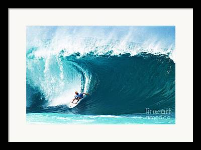 Kelly Slater Framed Prints