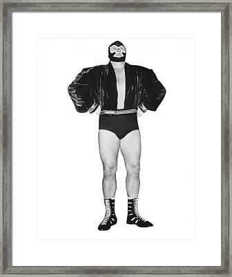 Pro Wrestler Mister M Framed Print