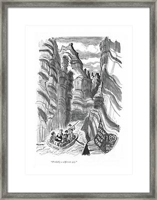 Probably A Different Guy Framed Print by James Stevenson