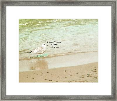 Probably Framed Print by Lisa Barbero
