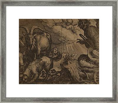 Probably Netherlandish 17th Century, Annunciation Framed Print by Quint Lox