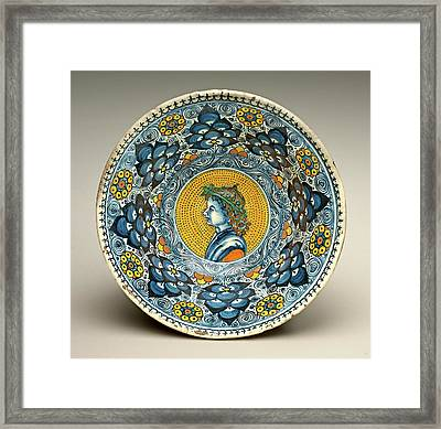 Probably Tuscan Or Faentine 16th Century Framed Print by Litz Collection