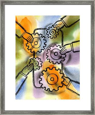 Problem Solving Framed Print by Leon Zernitsky