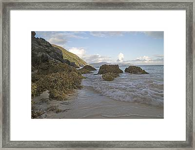Problems Solved Keem Beach Ireland Framed Print by Betsy Knapp
