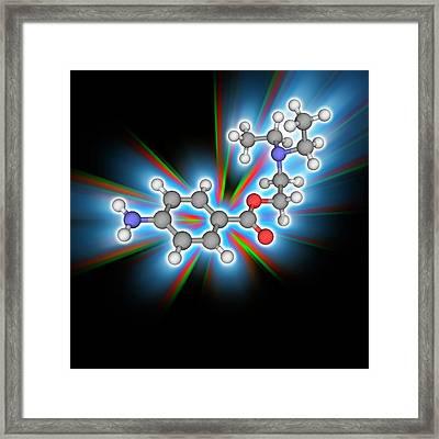 Procaine (novocaine) Drug Molecule Framed Print by Laguna Design/science Photo Library
