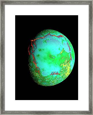 Procellarum Lunar Region Framed Print by Nasa/scientific Visualization Studio