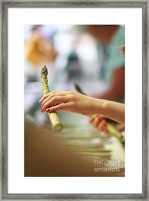 Processing Asparagus Framed Print