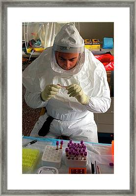 Processing Ebola Samples Framed Print