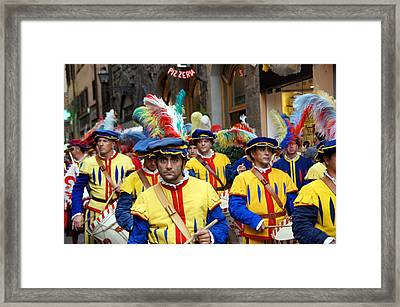Procession Framed Print