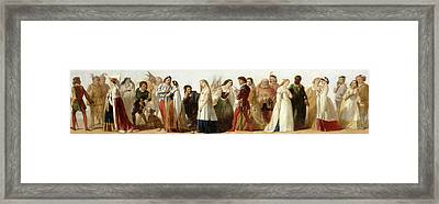 Procession Of Characters From Shakespeares Plays Framed Print by Litz Collection