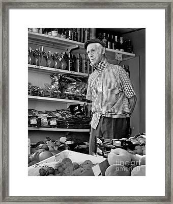 Procida Market Man-italy Framed Print by Jennie Breeze