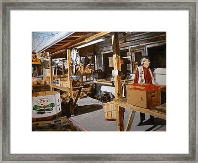 Produce Market Framed Print by Thomas Akers