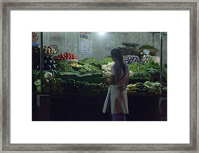 Produce Shop And The Owner Framed Print by Scott Lenhart
