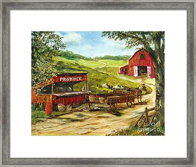 Produce Stand Framed Print by Lee Piper
