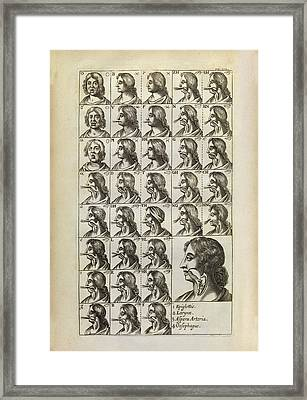 Production Of Vocal Sounds Framed Print by Middle Temple Library