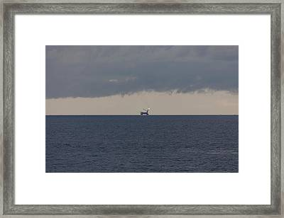 Production Platform Offshore Equatorial Guinea Framed Print