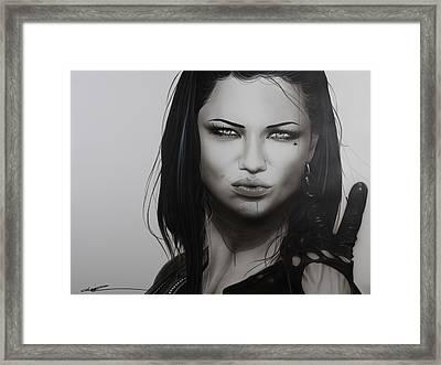 Adriana Lima - ' Profanity ' Framed Print