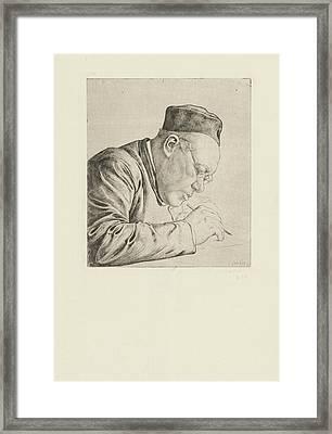 Prof.dr. H.j.a.m Framed Print by Jan Veth