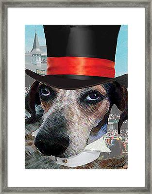 Professor Poses At The Derby Framed Print by Michele Avanti