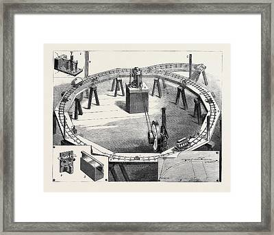 Professors Ayrton And Perrys New Electric Railway Framed Print
