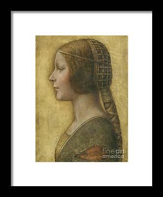 Female Face Framed Prints