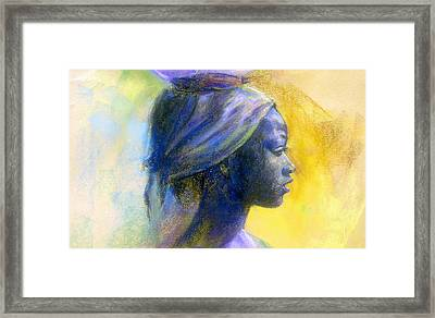 Profile Of A Young Fulani Girl  Framed Print