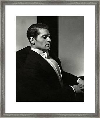 Profile Of Francis Lederer Framed Print by Edward Steichen