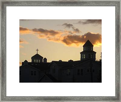Framed Print featuring the photograph Profile Of Prayer by Marie Neder
