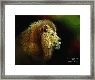 Profile Of The Lion King Framed Print by Robert Foster
