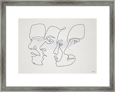 Profiles Framed Print by Quibe