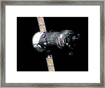 Progress 50 Approaching The Iss Framed Print by Nasa