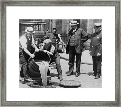 Prohibition In The Usa Framed Print