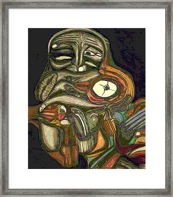 Projection Framed Print by George Curington