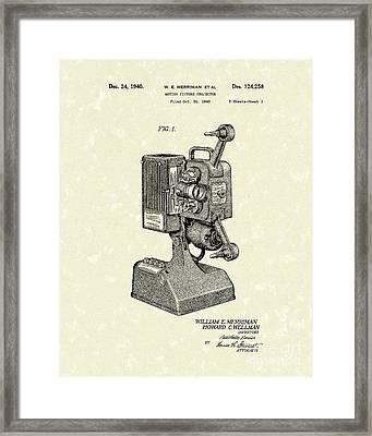 Projector 1941 Patent Art Framed Print