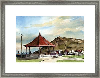 Prom Bandstand Bray Wicklow Framed Print by Val Byrne