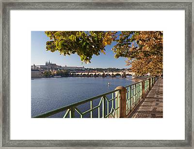 Promenade Along Vitava River Framed Print by Panoramic Images