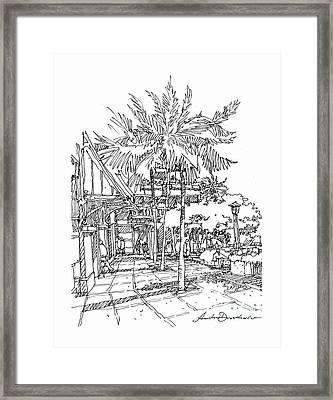 Framed Print featuring the drawing Promenade by Andrew Drozdowicz